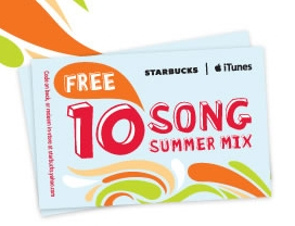 Want 10 Free Songs from iTunes? Just buy a Frappuccino